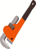 wrench pipe wrench clip art