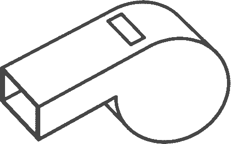 whistle outline