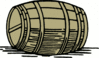 barrel large clip art