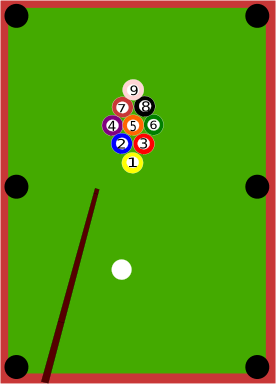 9 ball pool billiards table
