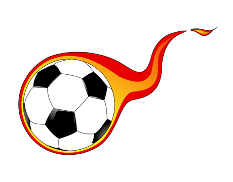 flaming soccer ball 01