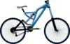 blue bicycle clip art
