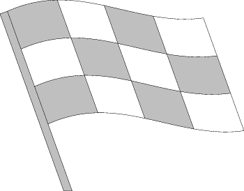auto black and white autorace-flag