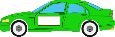 auto green car w ad space