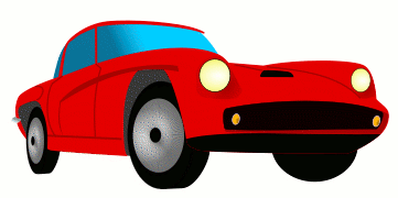 auto red sports car