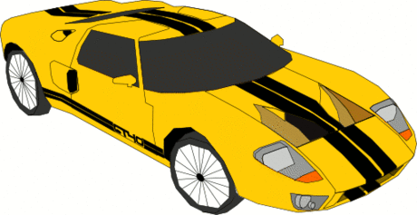 auto yellow sports car