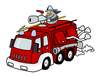 Truck fire engine mimooh 01 clip art