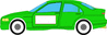 auto green car w ad space clip art