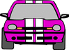 auto sporty pink clip art