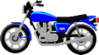 motorcycle cycle 1 clip art
