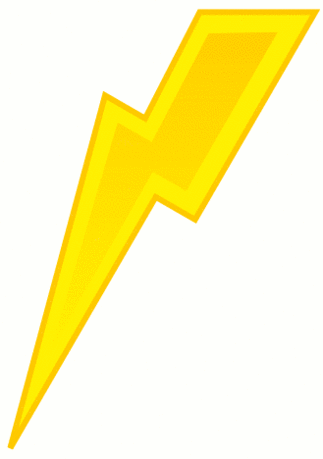 simple weather set Lightning yellow bolt
