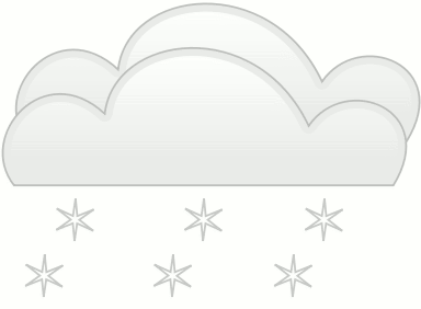 simple weather set Clouds double cloud snowfall
