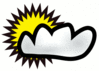 Clouds partly sunny clip art