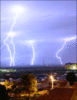 Lightning over Oradea Romania clip art