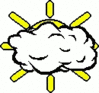 cartoon weather set Clouds cloudy mostly clip art