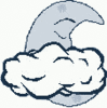 cartoon weather set Clouds cloudy night clip art