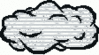 cartoon weather set Clouds hazy clip art