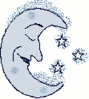 cartoon weather set frosty night clip art