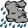 cartoon weather set rain 2 clip art