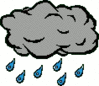 cartoon weather set showers clip art