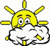 cartoon weather set sun fair clip art