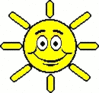 cartoon weather set sun sunny clip art