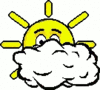 cartoon weather set sun sunny intervals clip art