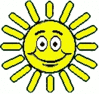 cartoon weather set sun sunny very clip art