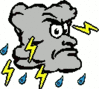 cartoon weather set thunder clip art