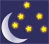 moon moon and stars clip art