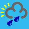 weather icon blue heavy rain shower clip art