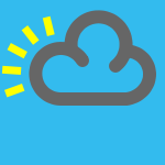weather icon blue black cloud
