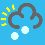 weather icon blue hail shower