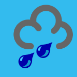 weather icon blue heavy rain