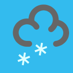 weather icon blue heavy snow