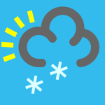 weather icon blue heavy snow shower