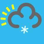 weather icon blue light snow shower