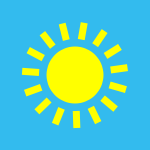 weather icon blue sunny
